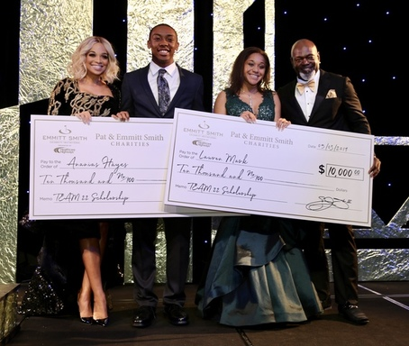 Ananias Hayes and Lauren Marks receive scholarship