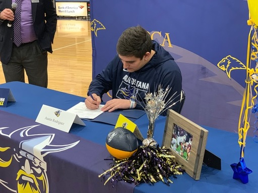 Austin Rodriguez signs with Augustana University.