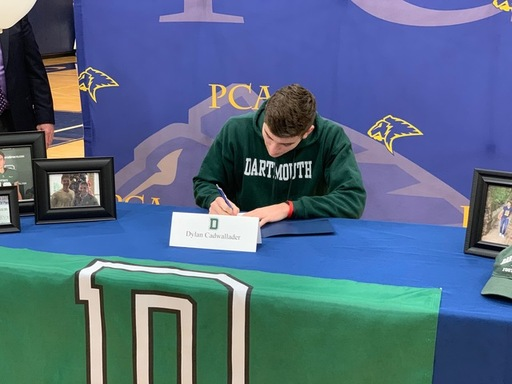 Dylan Cadwallader signs with Dartmouth.