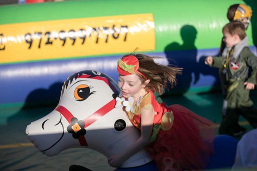 Audrey Bachus enjoys St. Andrew UMC Fall Festival