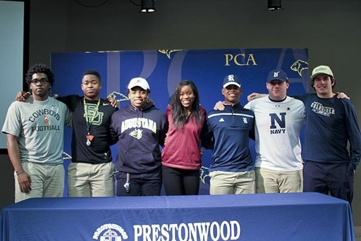 PCA's Seven Student-Athletes on Signing Day