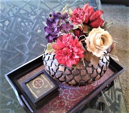 round vase and decorative indian tray.jpg