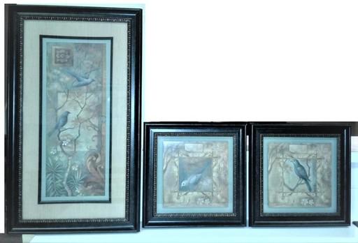 3 pc Wall Frames Turq-Brown-Tan Colors.jpg